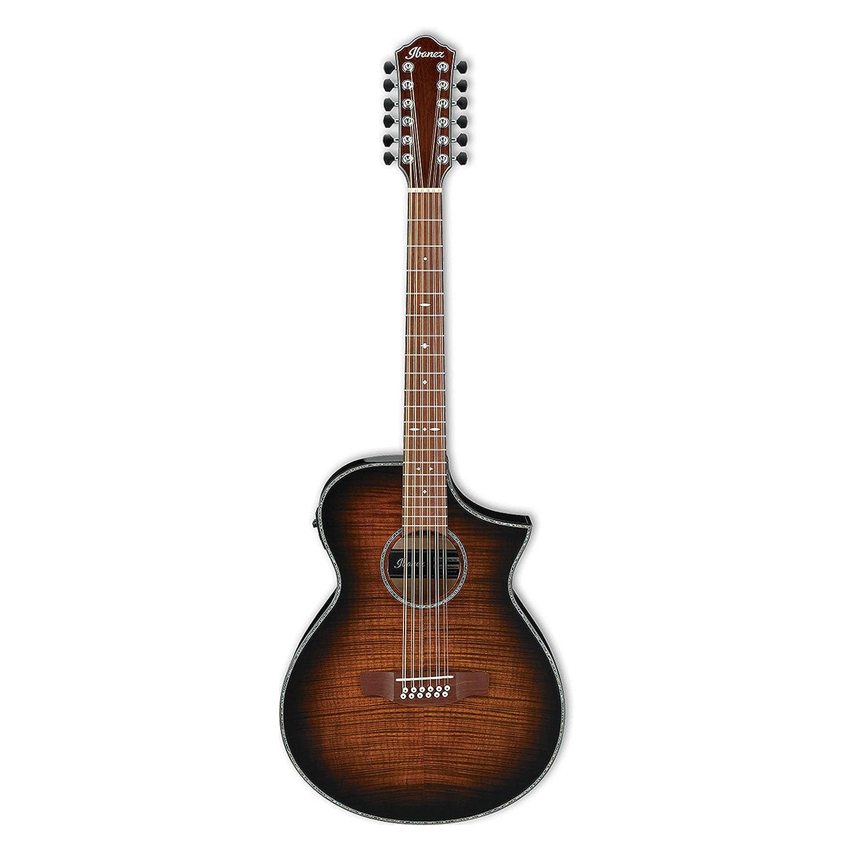 Ibanez aewc4012fmtib acústica eléctrica de 12 cuerdas guitarra ...