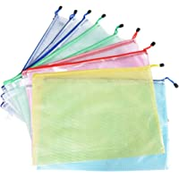 Uotyle File Zipper Bag A3 Size Mesh File Bag Storage Document Folder for Cosmetics Offices Supplies Travel Accessories Business Receipts User Manual 12 Pcs