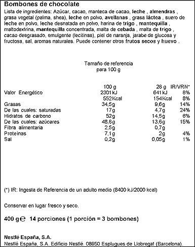 Nestlé Caja Roja Bombones de Chocolate - Estuche de bombones 4x400g: Amazon.es: Alimentación y bebidas