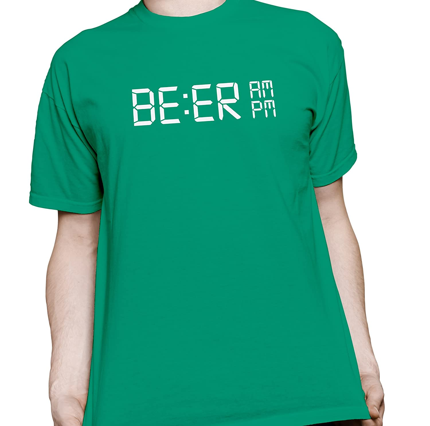 efb98a1931 Amazon.com: BE:ER O Clock - Funny Alarm Clock Beer Drinking Alcohol T-Shirt:  Clothing