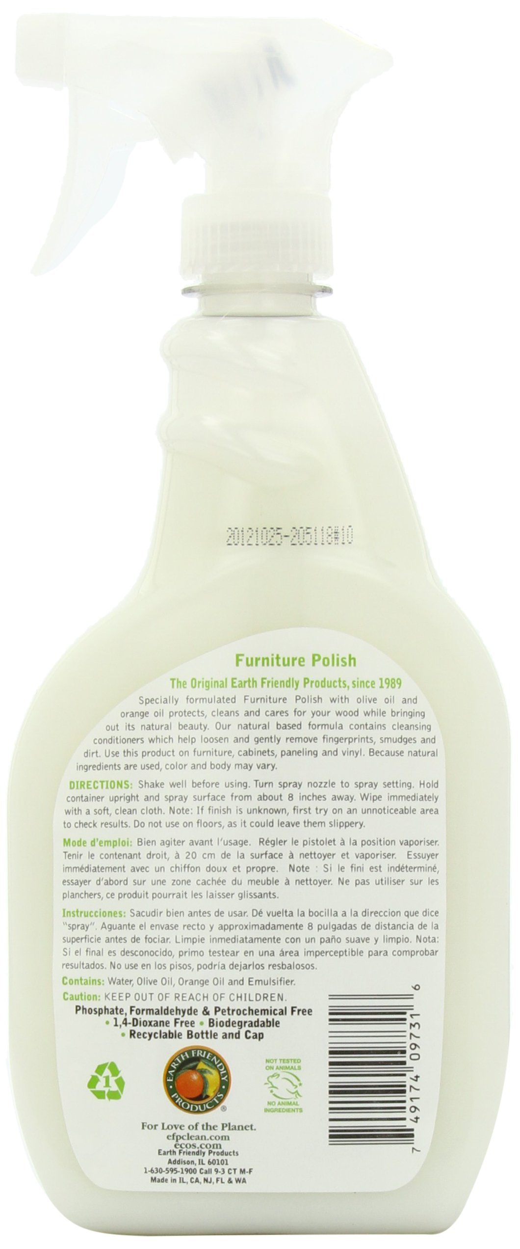 Earth Friendly Products Furniture Polish with Olive Oil, 22-Ounce (Pack of 2) by Earth Friendly Products (Image #2)