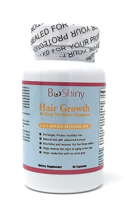 Vitaminas para el crecimiento del cabello con biotina. Producto exclusivo No More Grey Hair para