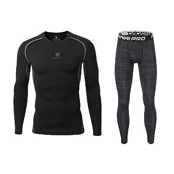 Barrageon Men s Elastic Compression T-shirt   Pants Set 5f3e73fe1fece
