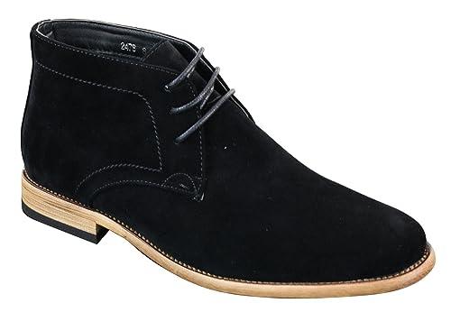 le meilleur plus grand choix de 2019 en ligne à la vente Chaussures hautes homme simili daim bleu marine noir marron ...