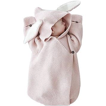 Saco de dormir vibola bebé 3d conejo oreja de punto manta para bebé (recién nacido bebé dormir swaddle Wrap Saco de dormir: Amazon.es: Hogar