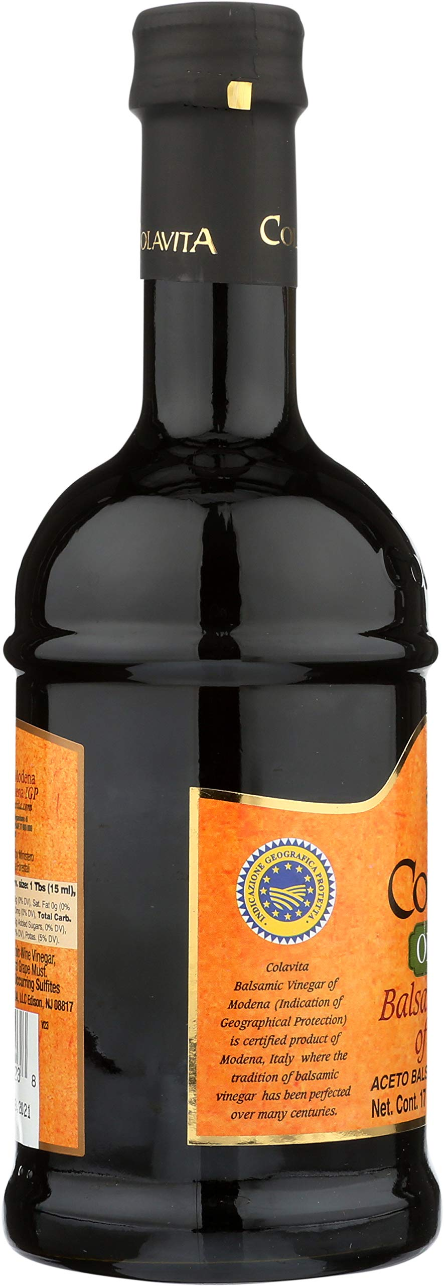 Colavita Vinegar, 5-Ounce Bottles (Pack of 16) 9 Special 5oz bottle Colavita Balsamic Vinegar. Enhance your dishes with the fruity tones of Colavita Balsamic Vinegar. In addition to salad dressings try adding Balsamic Vinegar to slow-cooked foods like soup or beans or use as a marinade for meat.