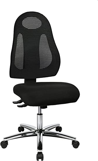 Stoffbezug Chrom schwarz N Topstar Open X ergonomischer B/ürostuhl Schreibtischstuhl