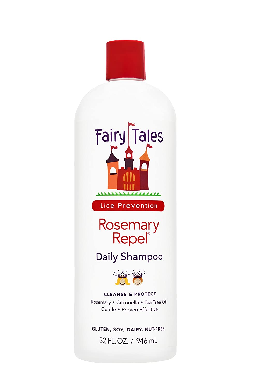 Fairy Tales Rosemary Repel Daily Kid Shampoo for Lice Prevention, 32 Fl Oz (Pack of 1)