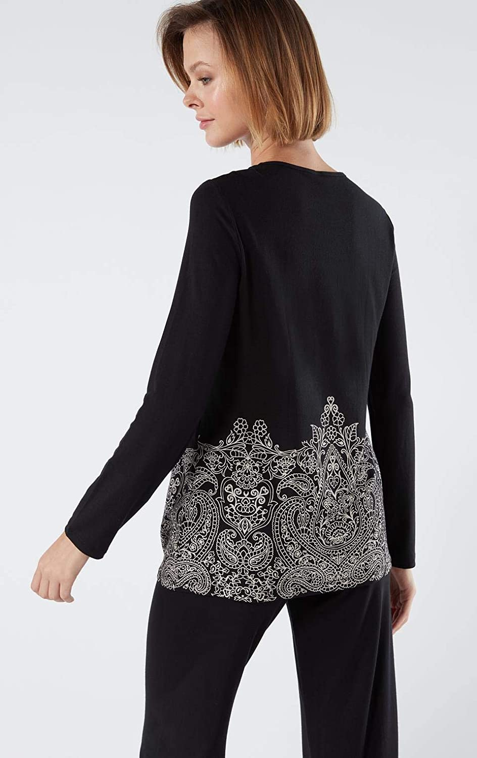 Intimissimi Womens Pretty Flowers Long-Sleeve Micromodal Top