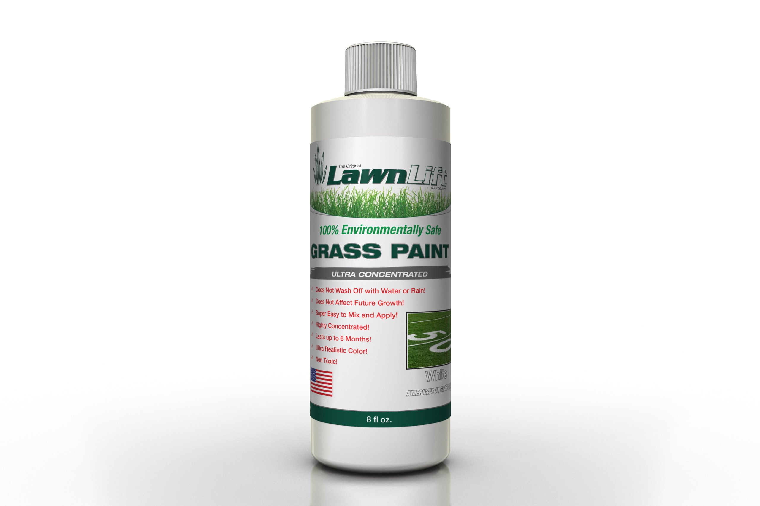 Lawnlift Ultra Concentrated (White) Grass Paint 8oz. = 2.5 Quarts of Product. by Lawnlift Grass and Mulch Paints (Image #2)