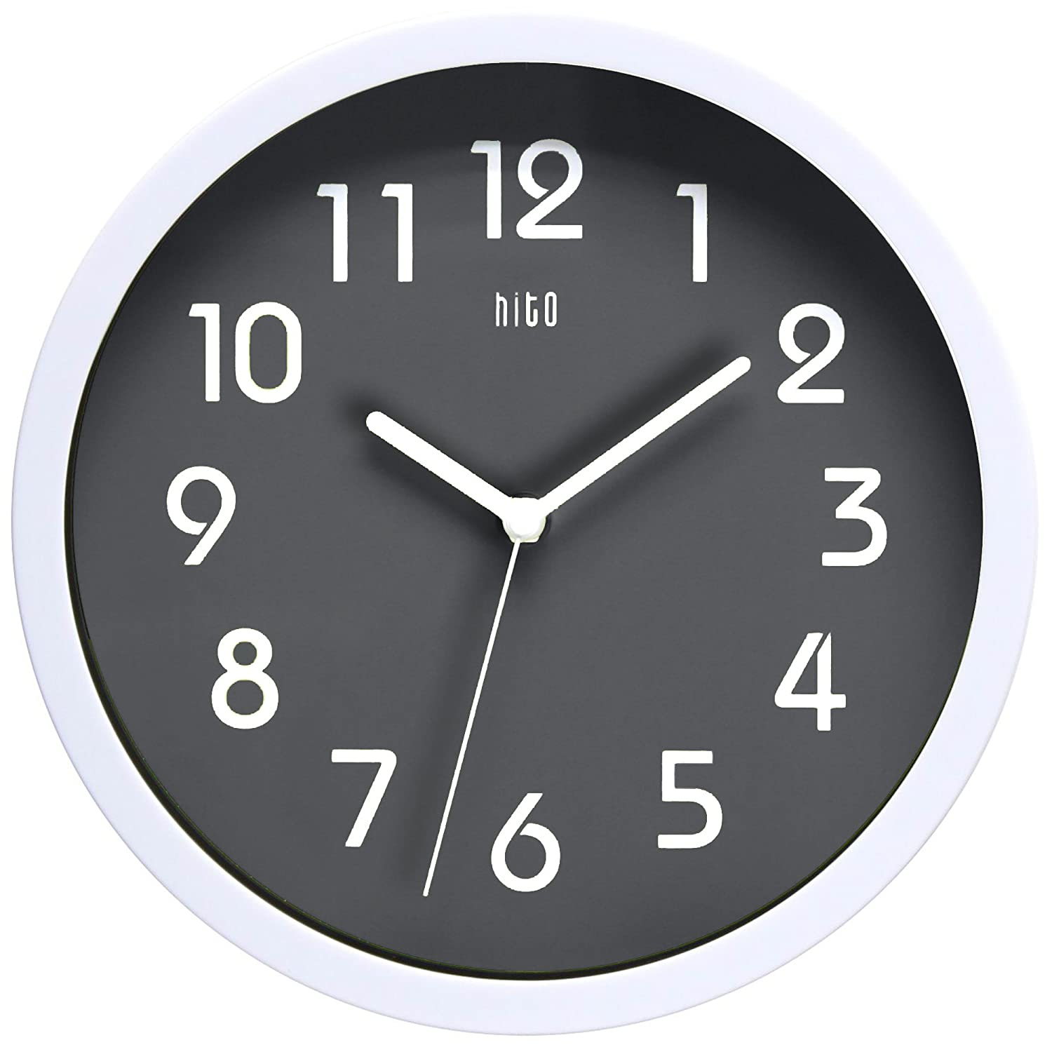 Amazon Hito Silent Wall Clock Non Ticking 10 Inch Excellent