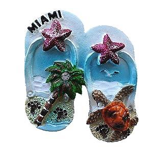 Miami USA 3D Fridge Magnet Souvenir Gift Collection Home & Kitchen Decoration Magnetic Sticker Miami Refrigerator Magnet
