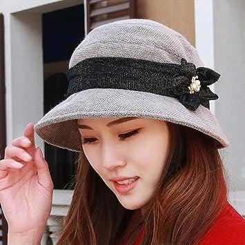 ERLINGSAN-MZ Sombrero Mujer Four Seasons Pescador Hat Basin Sombrero De  Moda Sombrero Madre Sombrero De Primavera Estilo De Tela Cap Gris   Amazon.es  ... 4704bfa6c0cb
