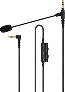 Cable Boom Microphone - Volume Control for Playstation PS4 or Xbox One Controller, PC, Tablet,Laptop, Smartphone - Boompro Gaming Mic Compatible with V-Moda or Most Other 3.5mm Jack Headphone(150CM)
