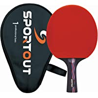Sportout Sriver-He Rubber Table Tennis Paddle, Professional Pingpong Racket with Case, 9-ply Wood and 8-ply Carbon Blade…