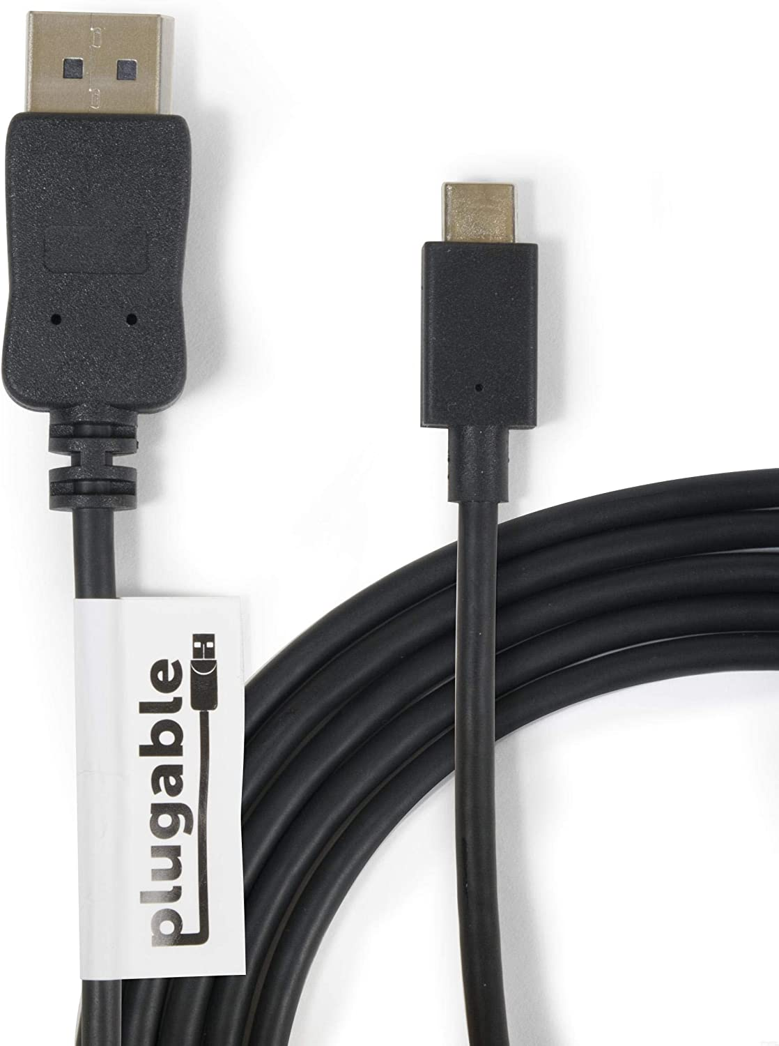 Plugable USB C to DisplayPort Adapter - 6ft (1.8m) Adapter Cable (Supports Resolutions up to 4K at 60Hz)