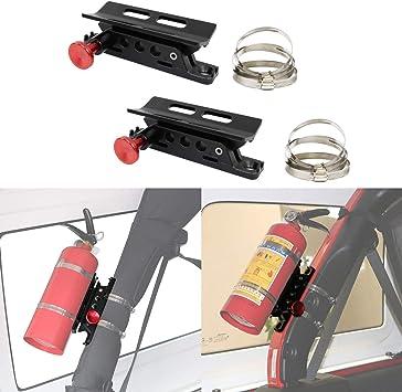 Fire Extinguisher Mount red Extinguisher Mount Bracket Adjustable Fit for Jeep Wrangler Sport//JK//Sahara