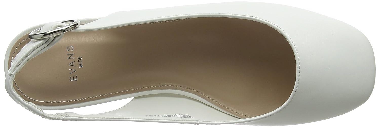Evans Fiona, Scarpe col Tacco con Cinturino Donna Dietro la Caviglia Donna Cinturino  Bianco (White 03) ad86e5