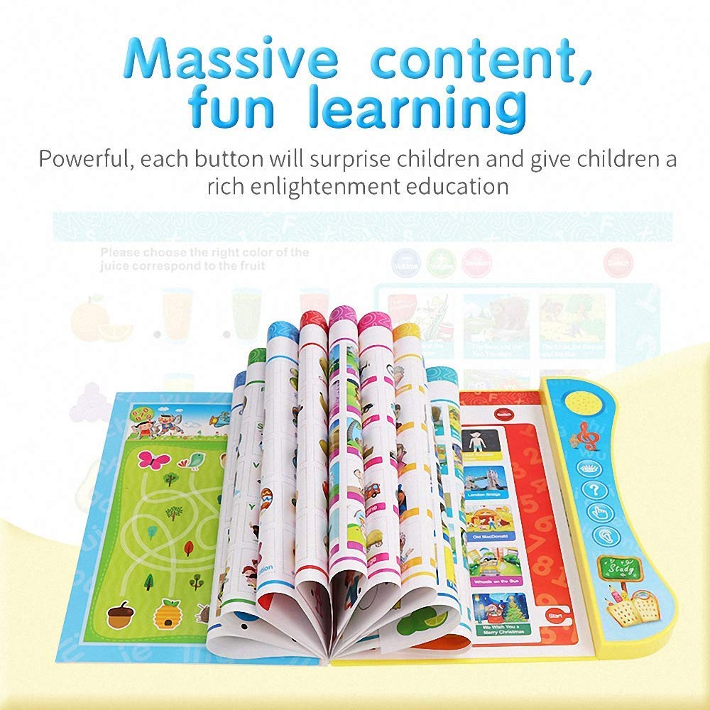 amazon com wuao abc sound book touch and teach lettets and words