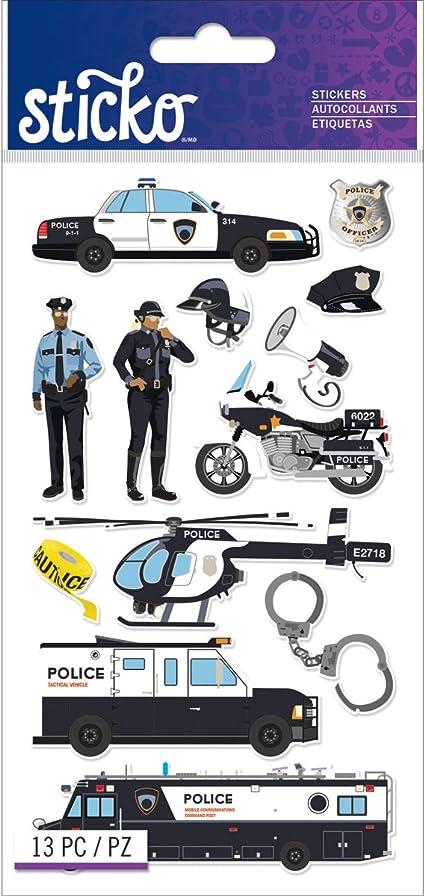 Sticko Classic Oficial de policía Coches Pegatinas: Amazon.es: Hogar