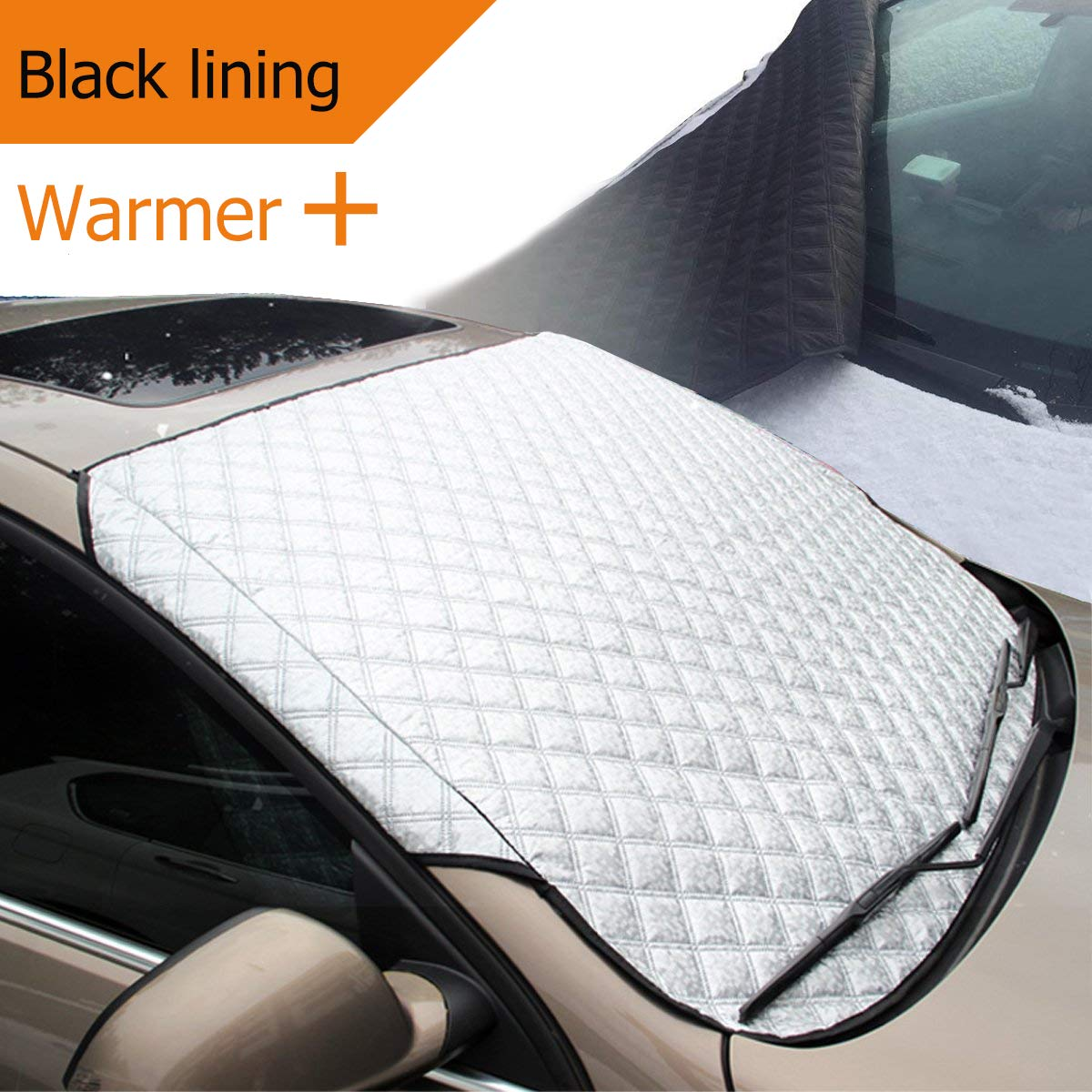 MATCC Car Windscreen Snow Cover Windshield Cover Ice Frost Sun UV Dust Water Resistent Windscreen Frost Protector Ice Removal Fits Most of Car MATCCwoitxol141