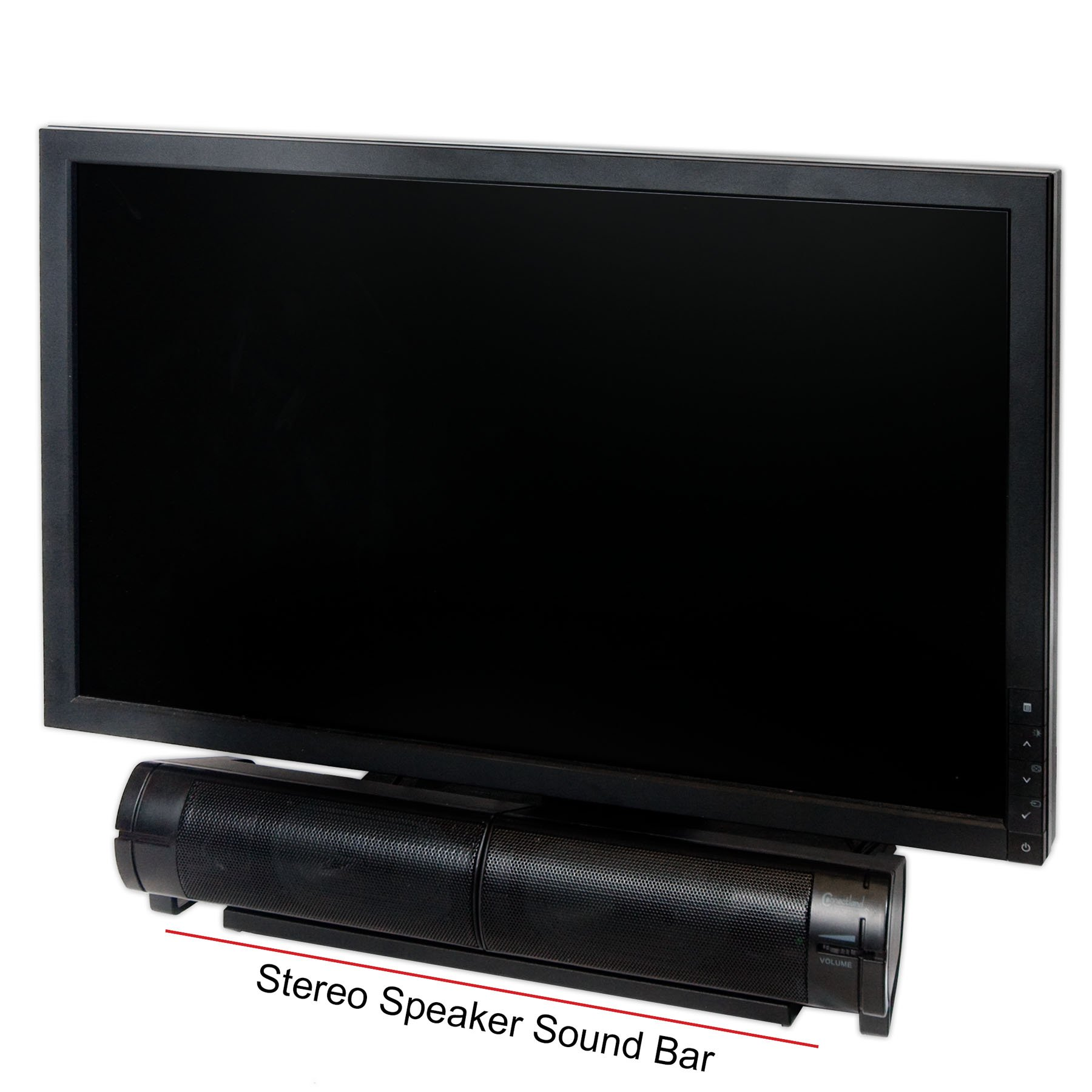 Connectland CL-SPK20037 USB Powered Desktop Monitor Stereo Speaker Sound Bar, Black by Syba (Image #2)