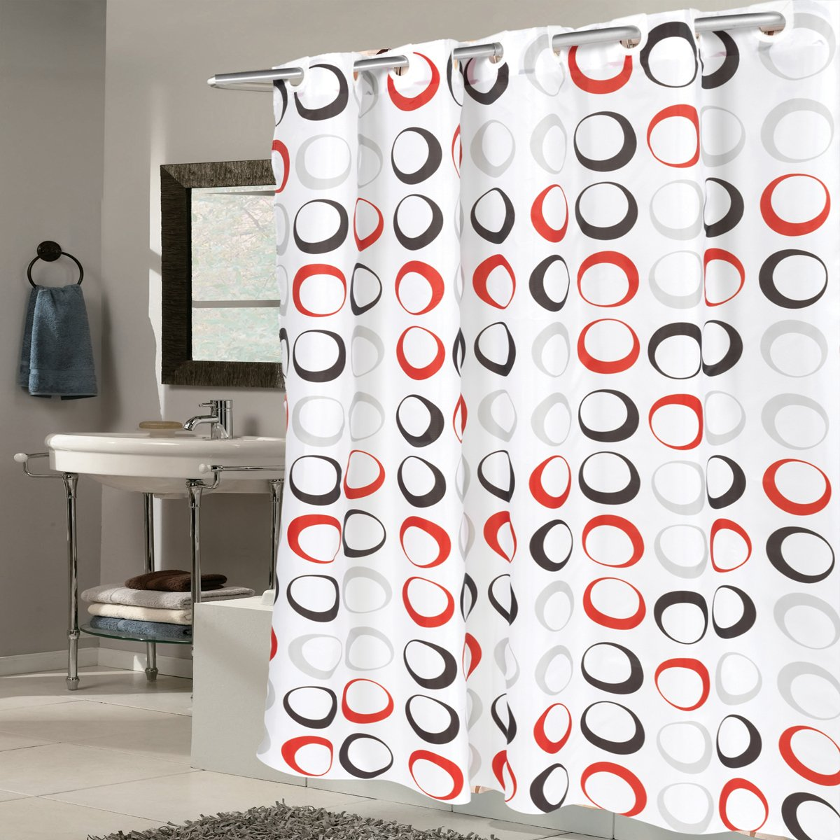 Funny Beer Bottle Fabric Bathroom Shower Curtains /& Hooks 71In