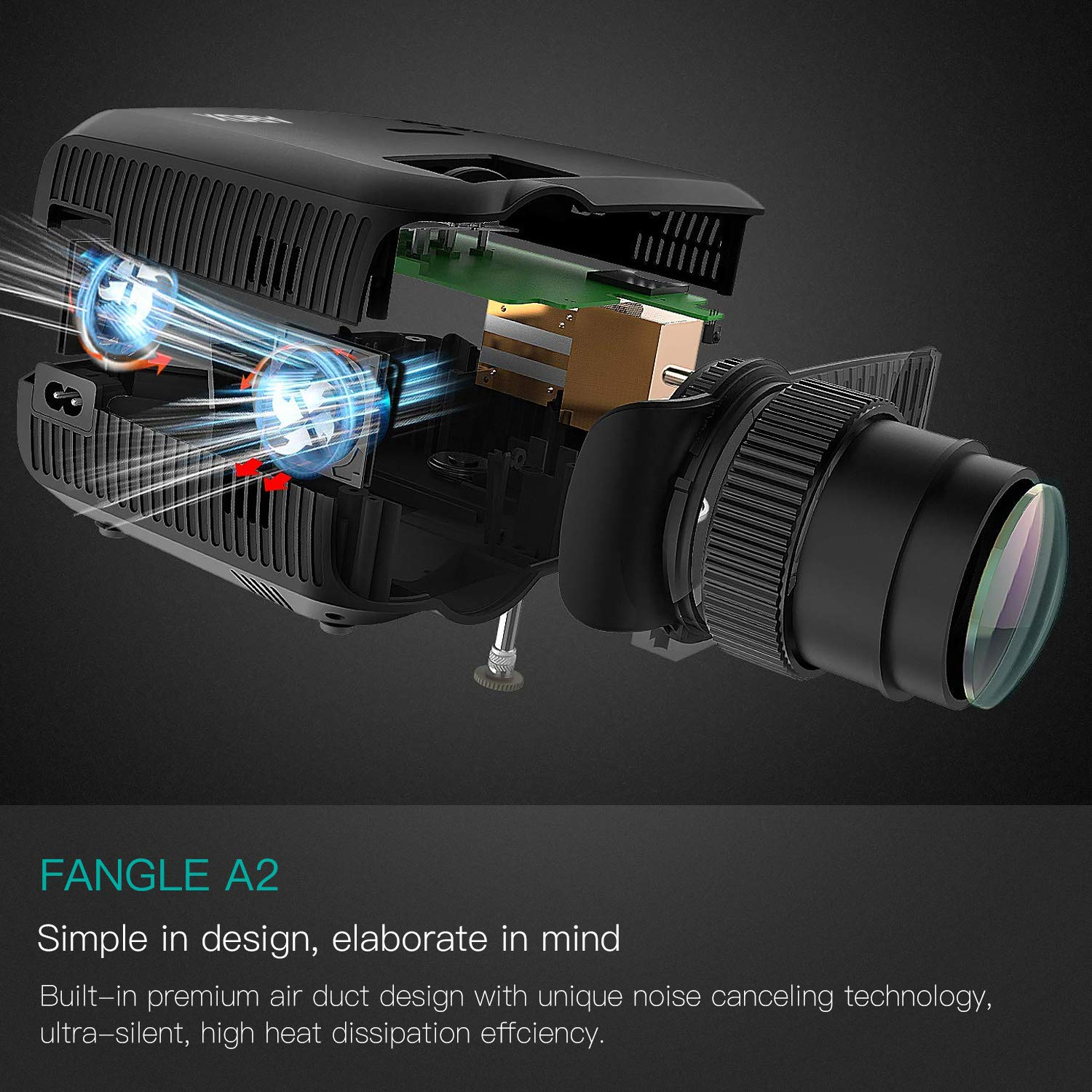 Projector, ABOX A2 LED Movie Video Projector with Full HD Native 720p, 100 ANSI Lumen, 180'' Big Screen, Hifi Speaker, Support 1080p with HDMI/USB/SD Card/VGA/AV Ports For Home Theater/Laptop/TV/Phones by GooBang Doo (Image #6)