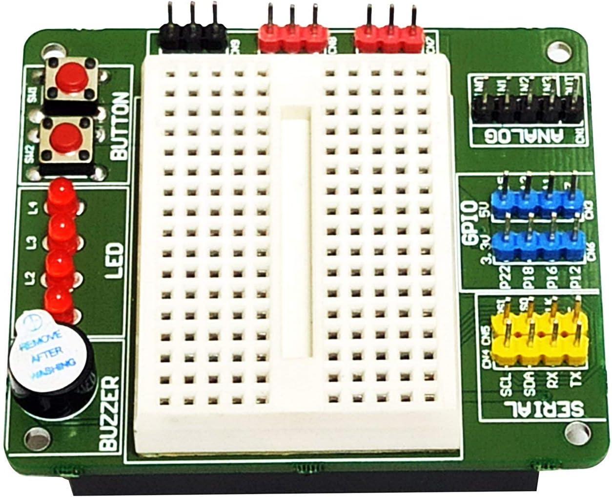 sb components BreadPi Multipurpose HAT for Raspberry Pi 4 3 Zero and Zero W 3B+ Raspberry Pi Expansion Board Designed for Digital and Analog I//O Manufacturer 2