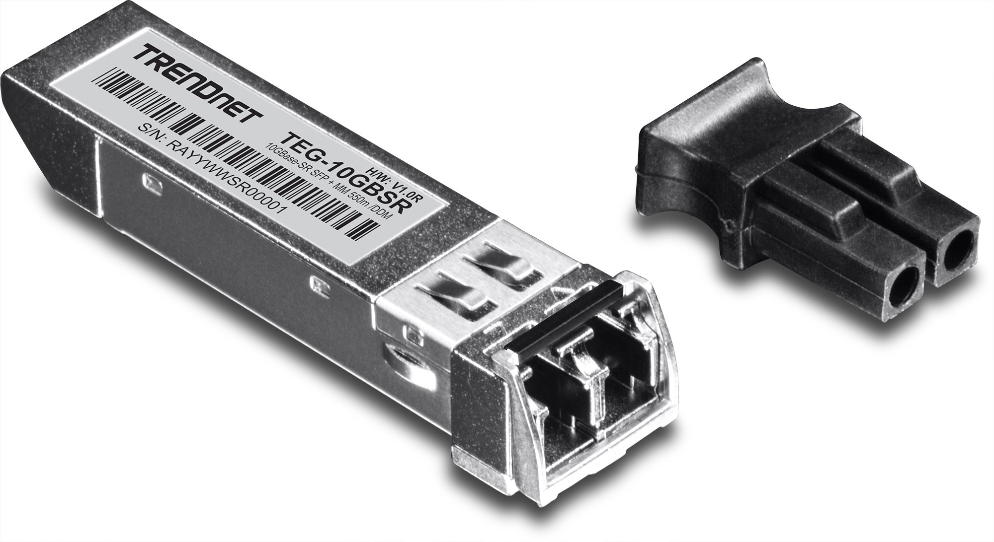 TRENDnet 10G-SR SFP+ module, Multi-Mode, LC Transceiver Module, Up to 550 m, TEG10GBSR by TRENDnet (Image #1)
