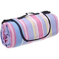 Honeystore Extra Large Waterproof Fleece Picnic Blanket Tote 59x79 inches Mat Rug