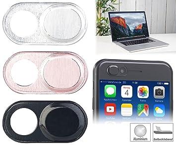Somikon – Tablet PC de de Cámara Cover: Juego de 3 Webcam de aluminio de