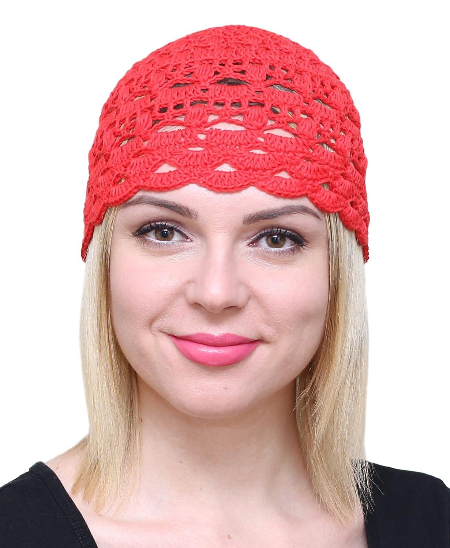 4b04d58c0b0 NFB Fascinator Hats for Women Ladies Summer Beanie Cotton Cloche Crochet  caps (Beige) at Amazon Women s Clothing store