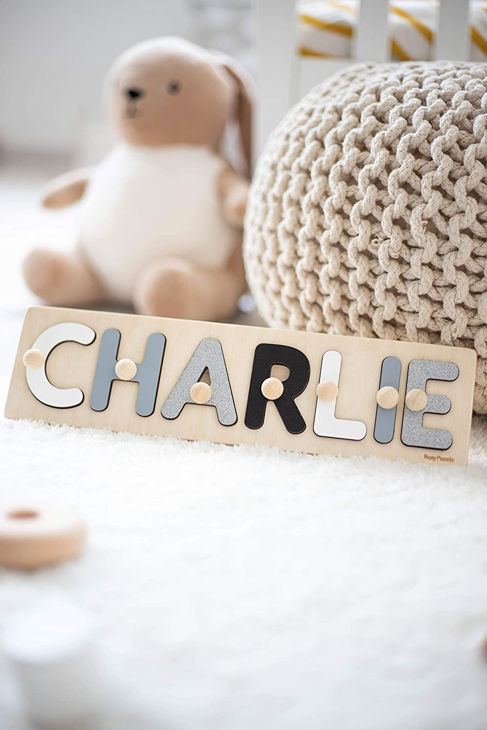 Easter Gift,Wooden Name Puzzle Personalized Birthday Gift Nursery Decor Baby Birthday Decor Baby Shower Girl Gift