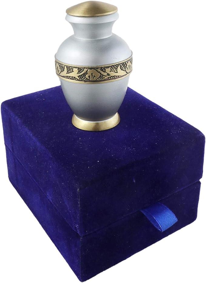 Maya Star Mini Urnas de cer/ámica en forma de coraz/ón para recuerdo de cremaci/ón