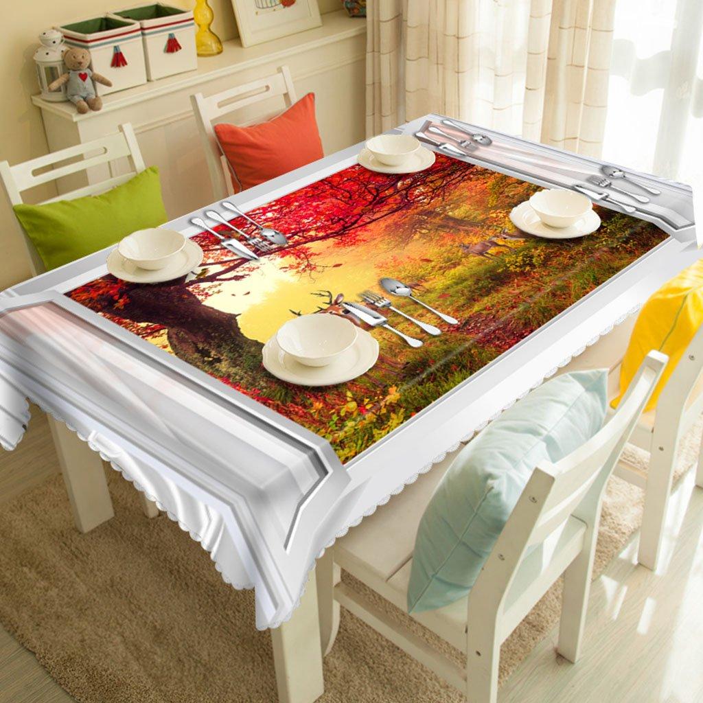 Europäische Tischdecke Rechteckige Tischdecken - 3D personalisierte Tischdecken TY00015 - Umweltfreundlich und geruchlos - Digital bedruckt Wasserdicht und Besteändig gegen Flecken ( größe   Rectangular -228cmx396cm )  Rectangular -13