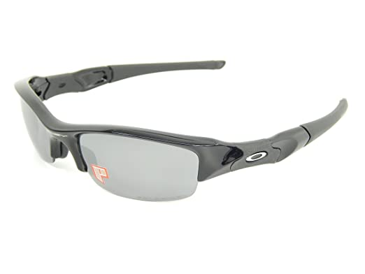 a4b192f130f Image Unavailable. Image not available for. Color  New Oakley 12-900 Flak  Jacket Black Black Iridium Lens 63mm Polarized Sunglasses