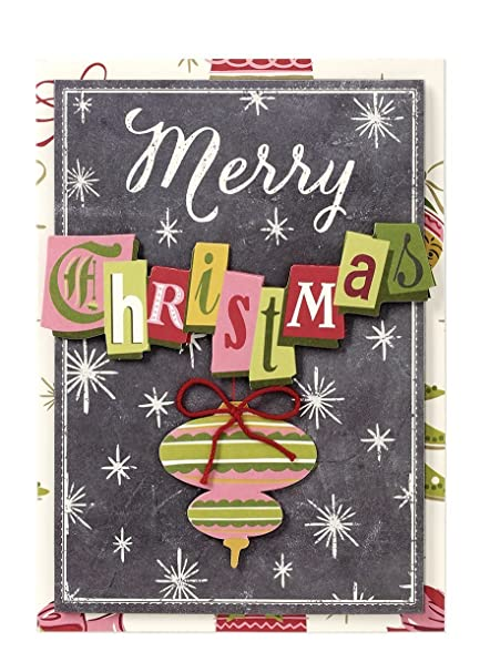Anna Griffin Christmas Cards.Amazon Com Handmade Dimensional Ornament Christmas Cards By Anna