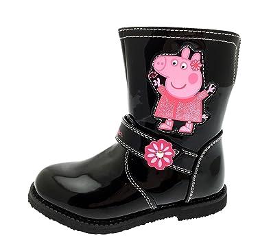 Black Compensées Pig Noir Fille Patent Peppa PigSandales JTFc1lK