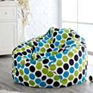 Style Crome Multi Colored Polka Dot Bean Bags With Filled Beans XXXL HD Printed