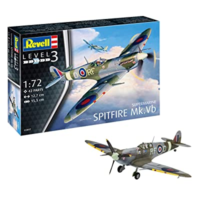 Revell 03897 Supermarine Spitfire Mk.VB, Multi Colour, 1: 72 Scale: Toys & Games