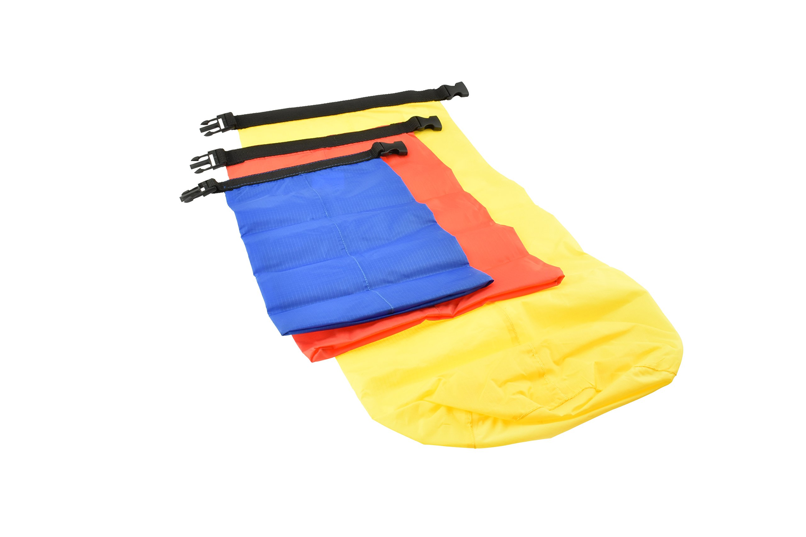SE TP123NZ-3 Ultimate Essential 3-Piece Camping Dry Sack Set, Small/Medium/Large