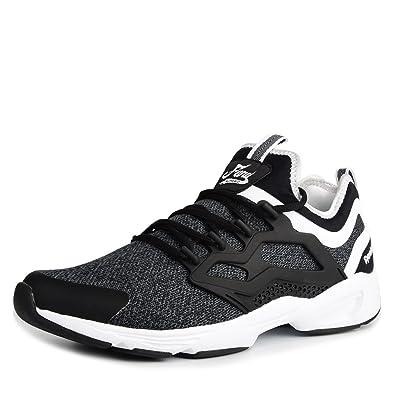 3c4b6d4dec03ef Reebok Mens Fury Adapt KN Running Shoes Black White (7)