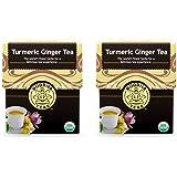 Organic Turmeric Ginger Tea - Kosher, Caffeine Free, GMO-Free - 18 Bleach Free Tea Bags (2 Pack)