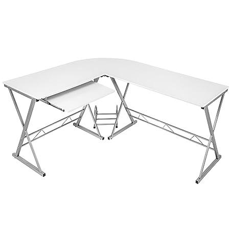 TecTake - Mesa de escritorio en esquina ángulo de escritorio en ...