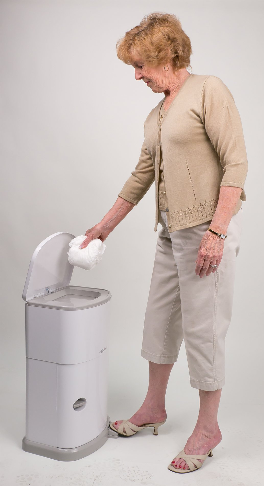 Janibell Akord Slim Adult Diaper Pail- Odor Free Model M280DA