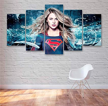 """DC Superman Paintings HD Canvas Print 24/""""x36/"""" Home Decor Wall Art Pictures"""