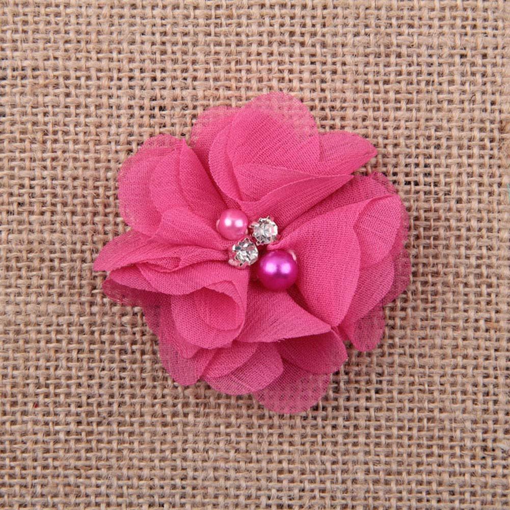 FidgetFidget Chiffon sew Flowers Big Appliques/Craft/Wedding Decoration 12#