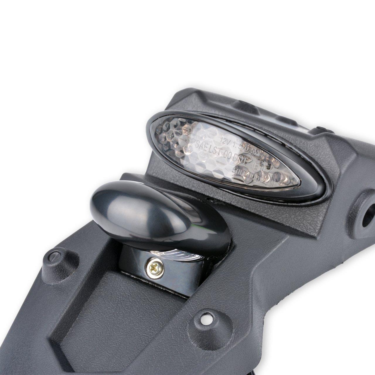fum/ée KaTur Garde-boue et feu arri/ère LED 12/V universel pour moto r/éflecteur de lumi/ère pour motocross avec feu de stop moto de sport moto de Pit Dirt