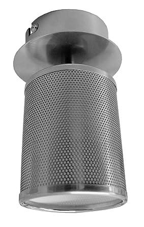 Lampenlux LED Deckenlampe Wohn Lampe Licht Fluter Raster Bad Leuchte Nickel  Satiniert OVP